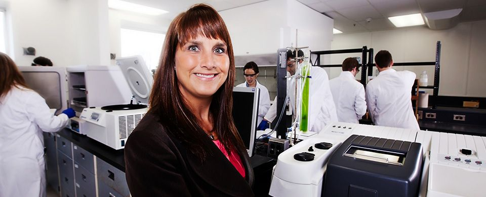 Dr. Pascale Champagne in the Lab